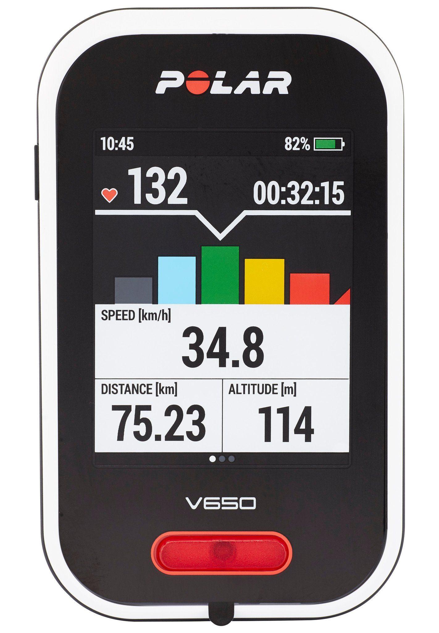 Polar Navigationsgerät »Polar V650 GPS Fahrradcomputer +«