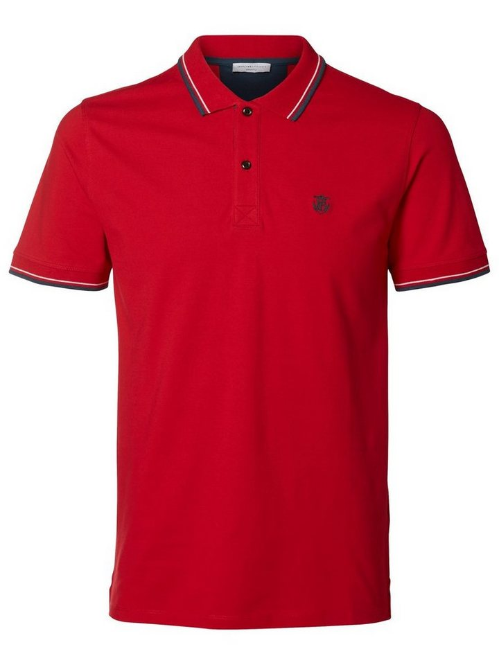 SELECTED Poloshirt in TRUE RED
