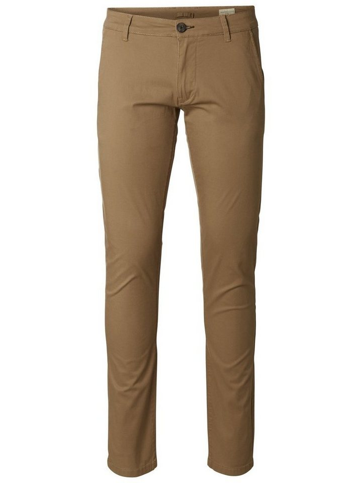 SELECTED Normal sitzende Chino in CAMEL