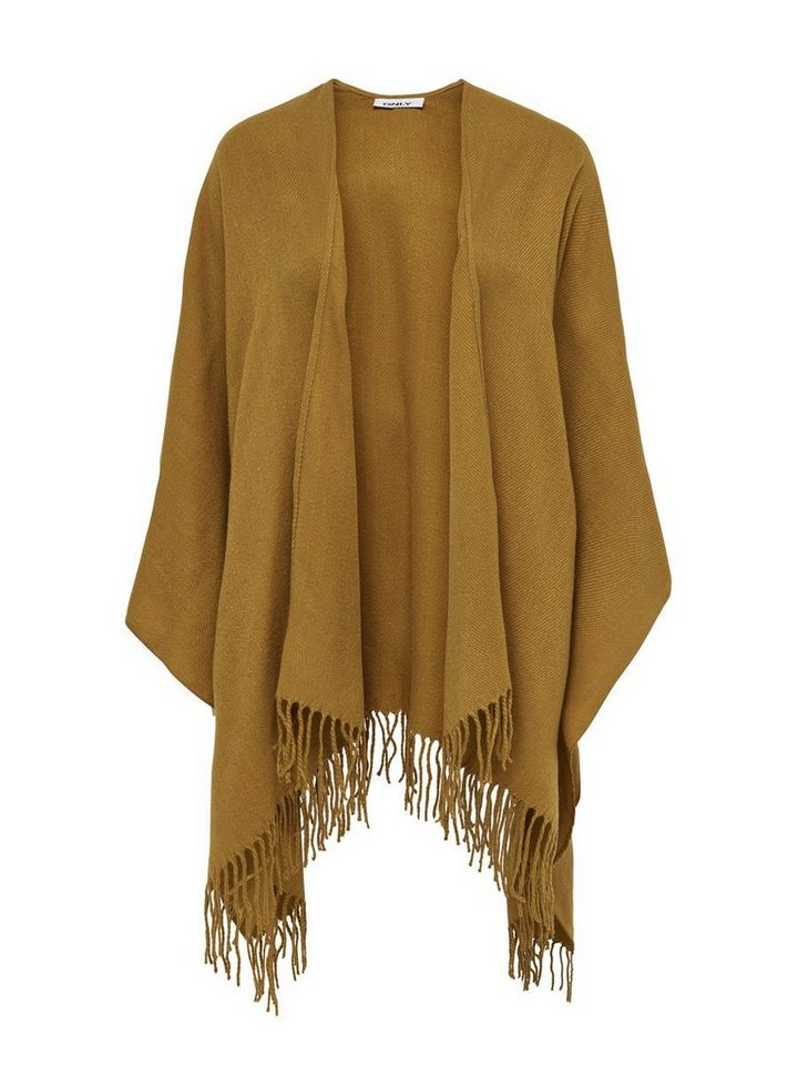 Only Einfarbiger Poncho in Wood Thrush