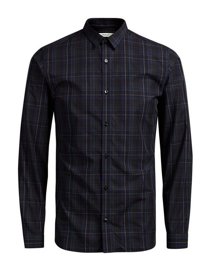 Jack & Jones Slim-Fit- Langarmhemd in Scarab