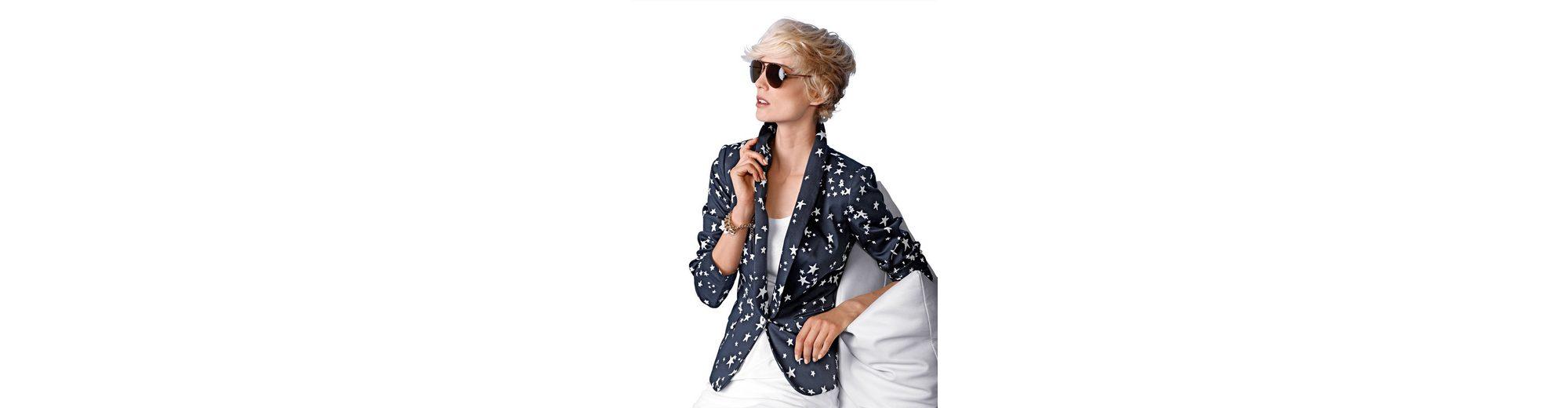Freies Verschiffen Größte Lieferant Günstig Kaufen Viele Arten Von Alba Moda Blazer mit Sterneprint Verkauf Hochwertige Offiziell Nicekicks YTQLT