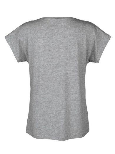 Alba Moda T-Shirt mit Schmucksteinchen