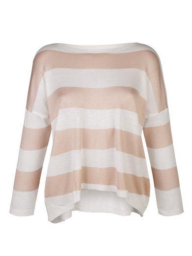 Alba Moda Pullover im Streifendessin
