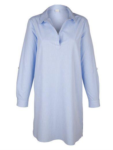Alba Moda Hemdblusenkleid in gewebtem Streifendessin