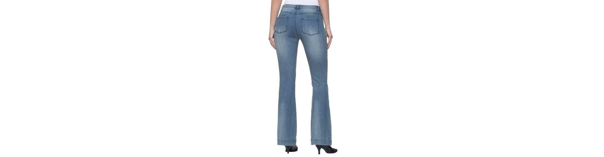 Zum Verkauf Footlocker Alba Moda Flared-Jeans mit Cut-out-Effekten und modischer Waschung Rabatt Großhandelspreis s7iPvpL