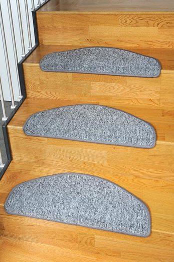 Stufenmatte »Torronto«, Living Line, halbrund, Höhe 5 mm, Teppich-Stufenmatte, Treppen-Stufenmatte, Treppenmatte, Treppenschutz, Treppenschutzmatte, Stufenteppich, 15 Stück, für innen, Schlinge