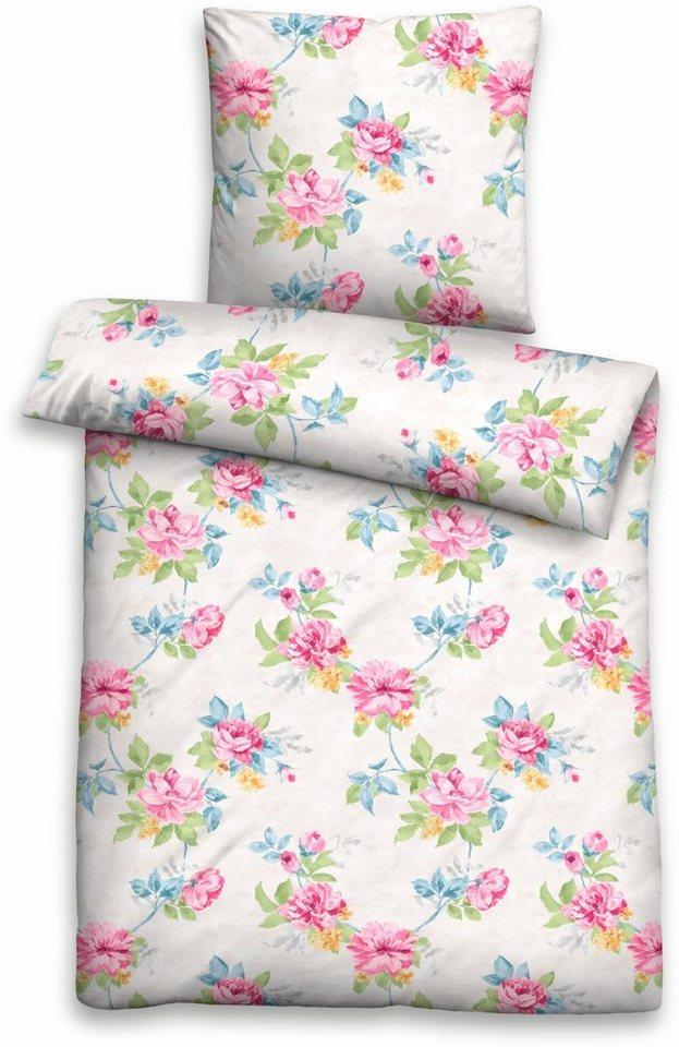 bettw sche biberna bud mit bl ten muster otto. Black Bedroom Furniture Sets. Home Design Ideas
