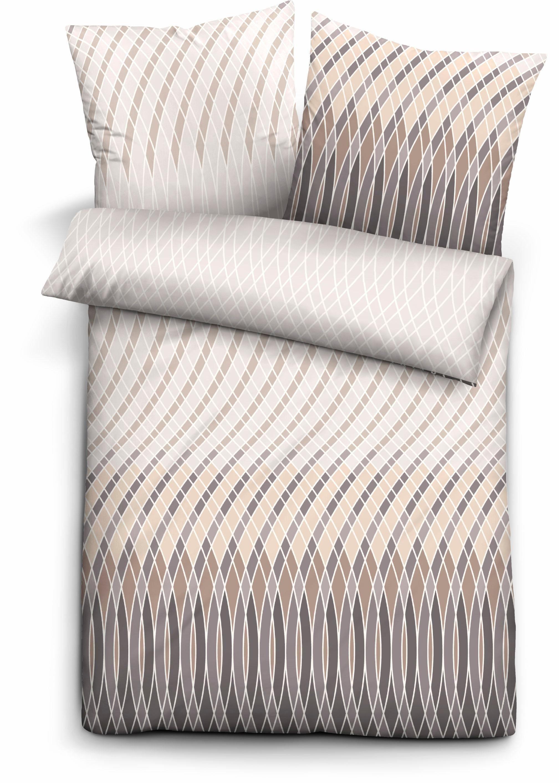 Bettwäsche, Biberna, »Shift«, mit geschwungenen Linien