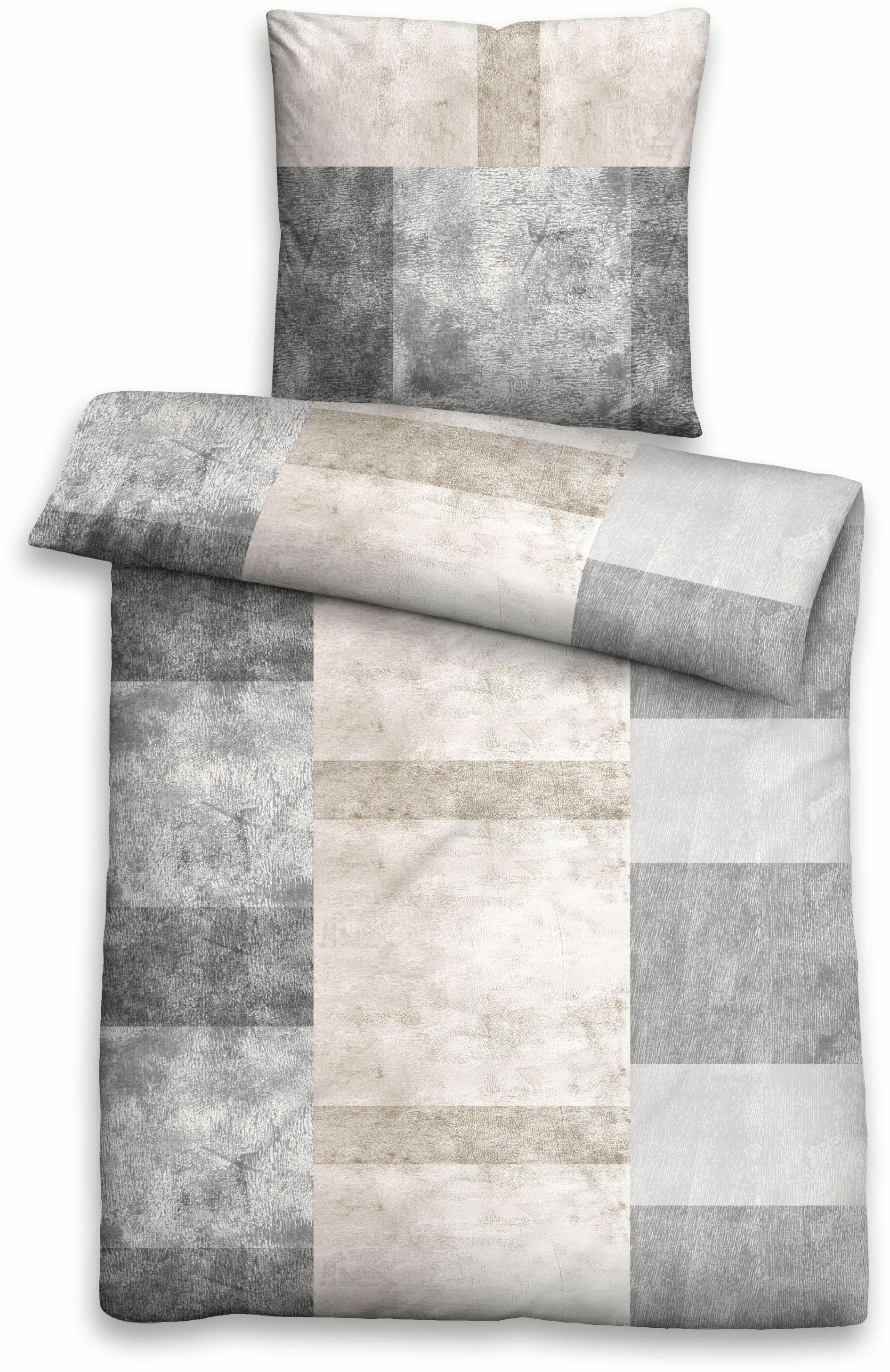 Bettwäsche »Mamoria«, Biberna, mit großen Karos