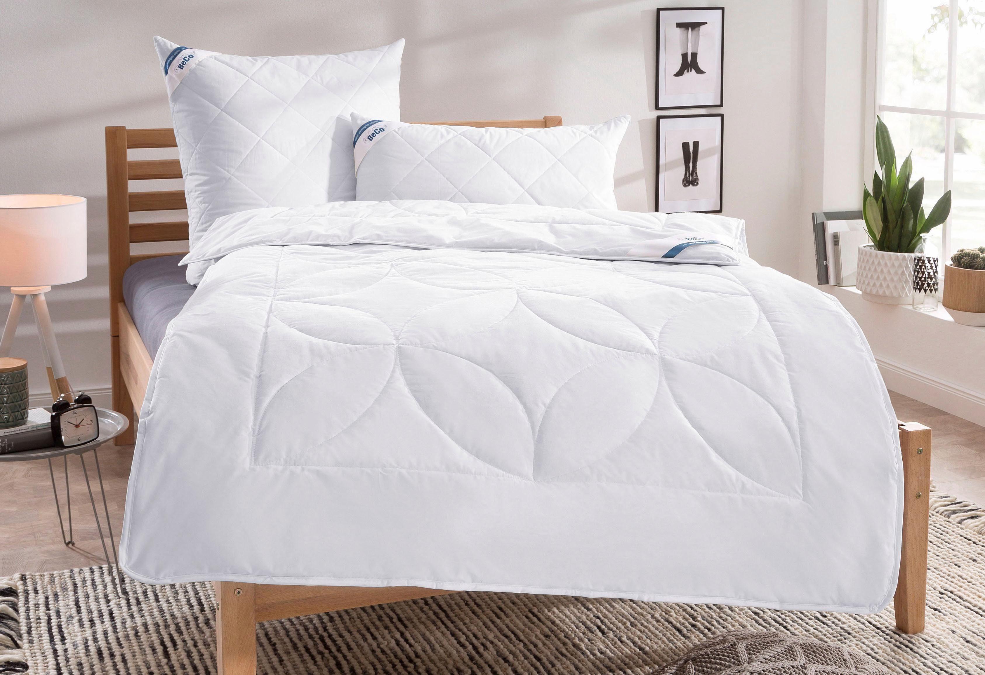 Bettdeckenset, »Schurwolle 100«, Beco, Warm, Bezug: 100% Baumwolle, Füllung 100% Schurwolle, natürliches Bettklima