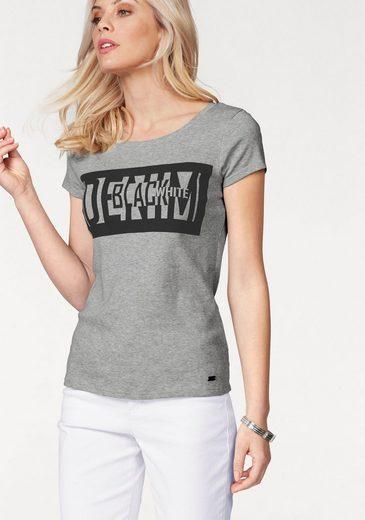 Arizona Print-Shirt Denim Black White