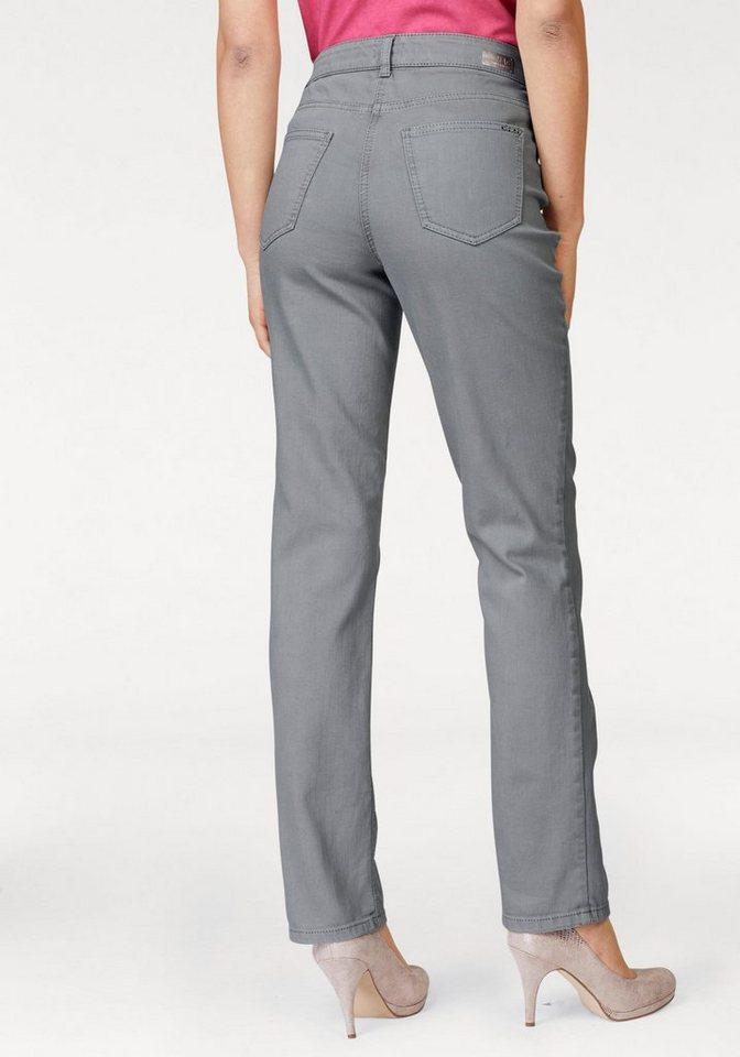 MAC 5-Pocket-Jeans »Melanie Glam Pocket« mit Strasssteinchen | Bekleidung > Jeans > 5-Pocket-Jeans | Grau | Denim | MAC