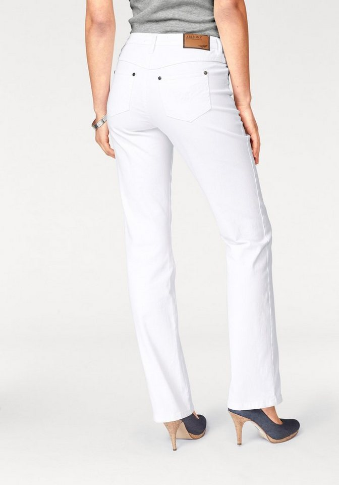 Arizona Gerade Jeans »Comfort-Fit« High Waist | Bekleidung > Jeans > Gerade Jeans | Weiß | Baumwolle | Arizona