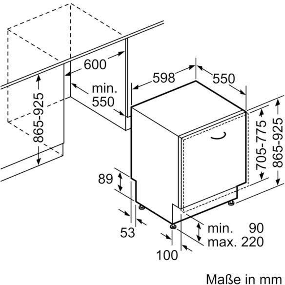 Küchengroßgeräte - NEFF vollintegrierbarer Geschirrspüler GX3600G, S523G60X0E, 9,5 l, 12 Maßgedecke  - Onlineshop OTTO