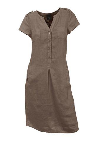 LINEA TESINI BY HEINE Lininė suknelė su Marškinėliai apvalia...