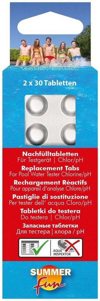 Clear Pool Tabletten »Nachfülltabletten für Wassertestgerät Chlor/pH-Wert« in weiß