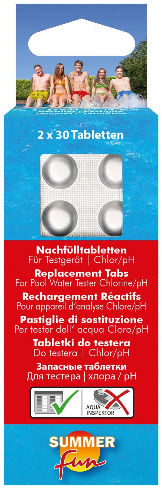 Clear Pool Tabletten »Nachfülltabletten für Wassertestgerät Chlor/pH-Wert«