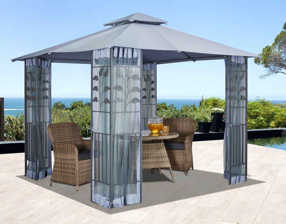 seitenteile f r pavillon mit moskitonetz f r pavillon bl tter grau online kaufen otto. Black Bedroom Furniture Sets. Home Design Ideas