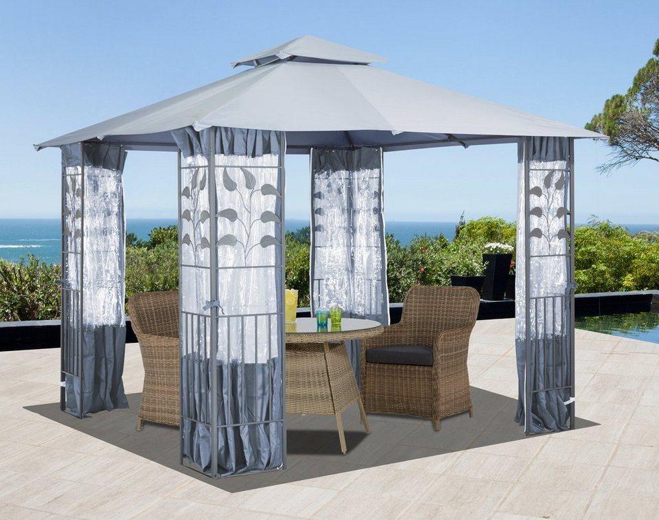 konifera seitenteile f r pavillon mit fenster f r pavillon bl tter grau online kaufen otto. Black Bedroom Furniture Sets. Home Design Ideas