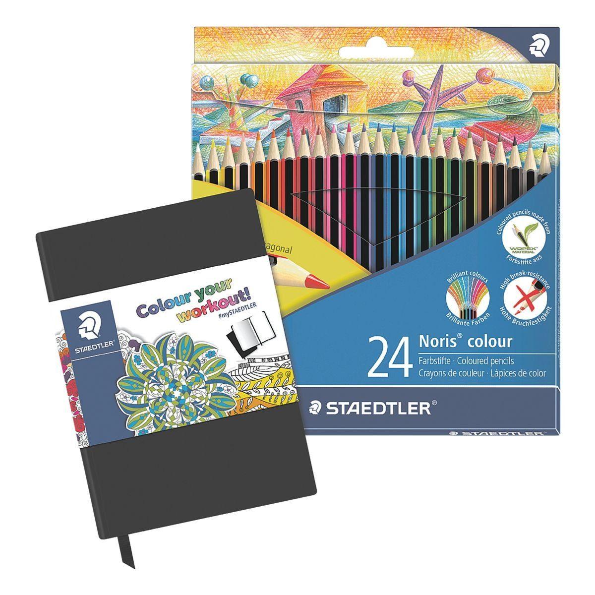 STAEDTLER 24er-Pack Buntstifte inkl. Sketchbook »Noris Colour«