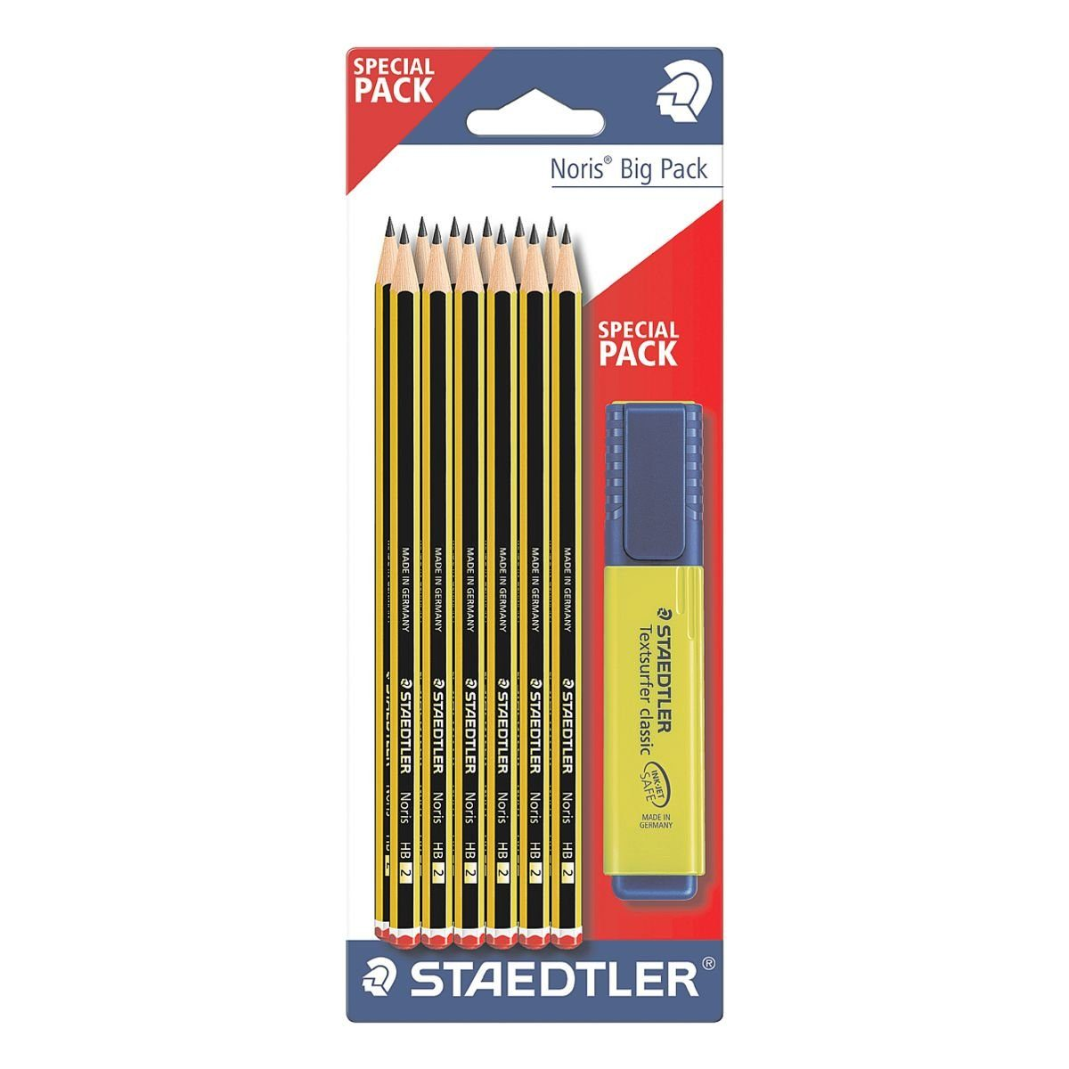 STAEDTLER 12er-Set Bleistifte inkl. Textmarker »Noris«