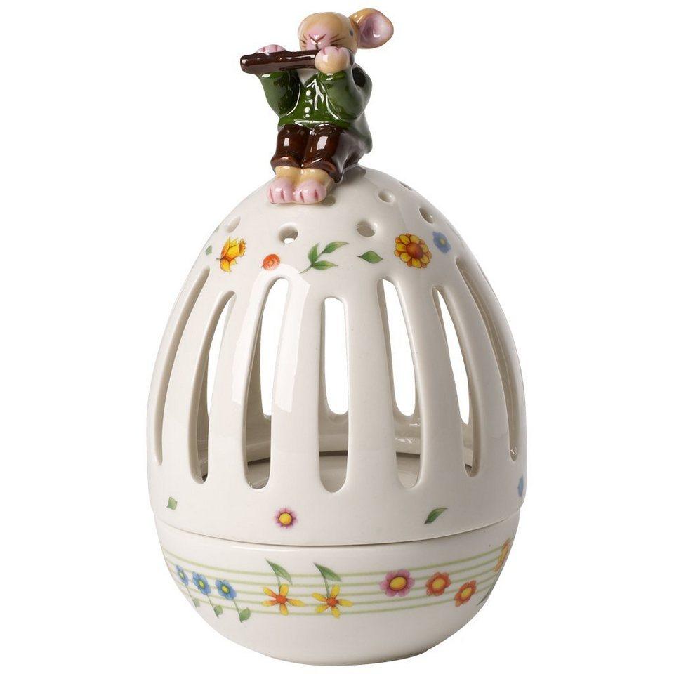 Villeroy & Boch Teelichthalter Ei, Hase Flötenspiel »Spring Decoration« in Dekoriert