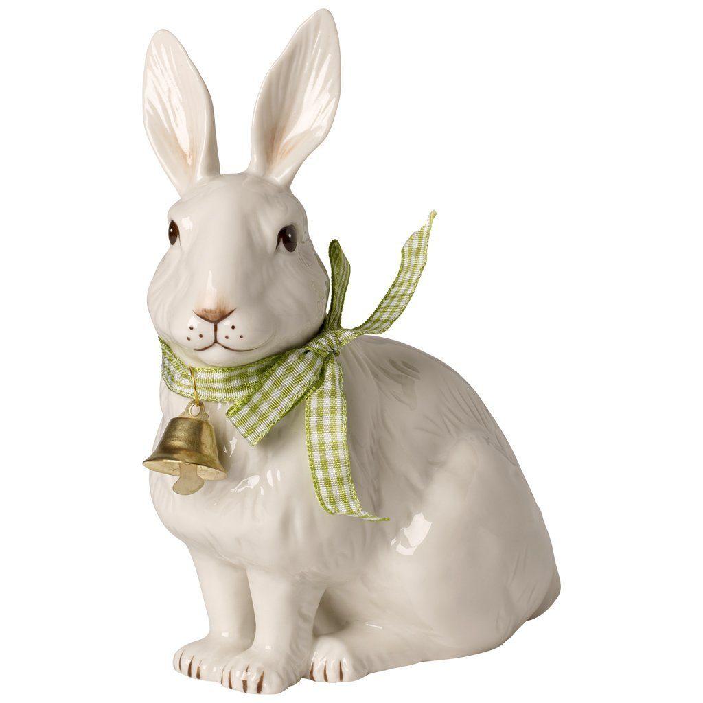 Villeroy & Boch Hase groß sitzend mit Glöckchen 17c »Easter Decoration«