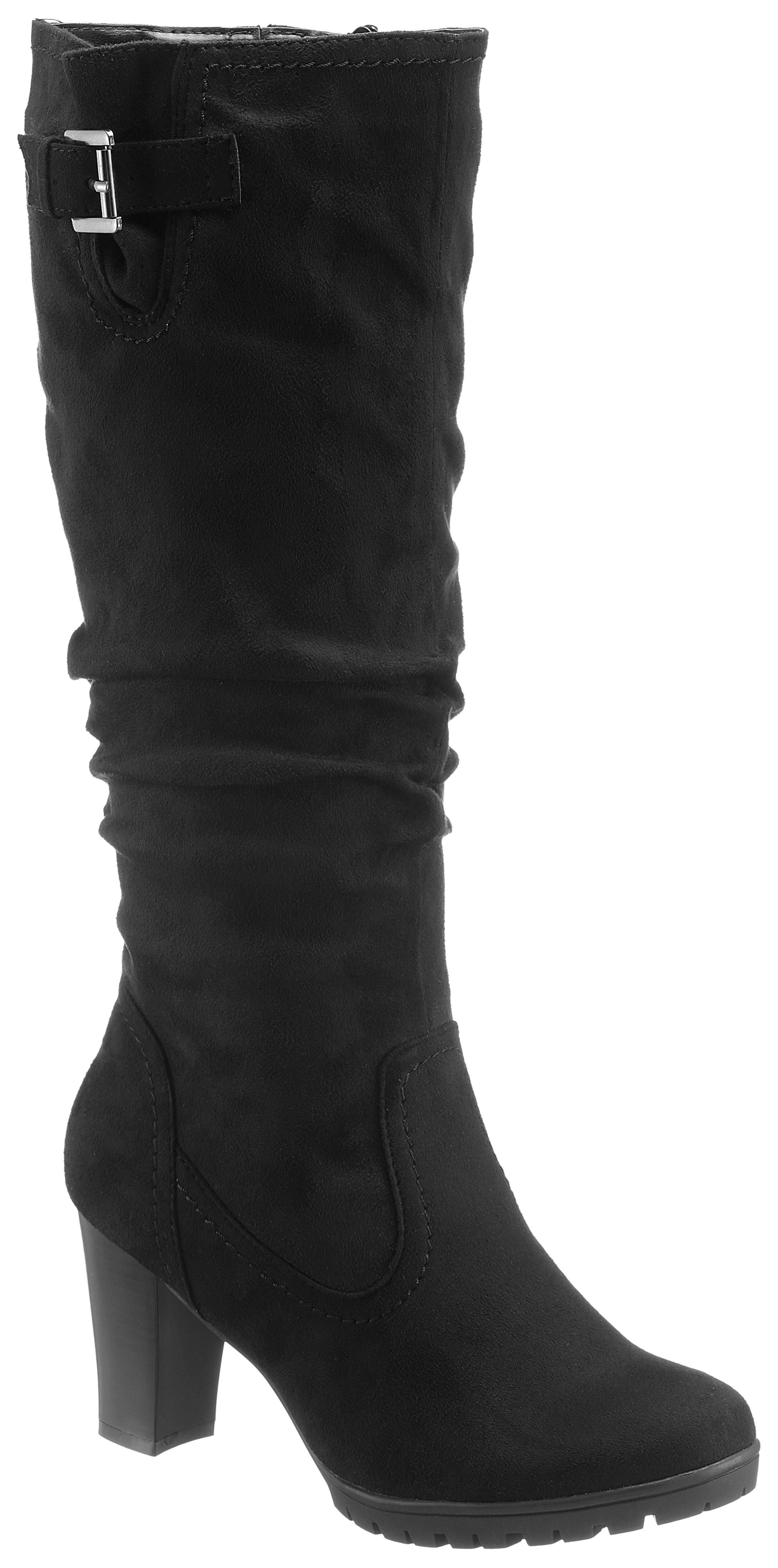 CITY WALK Stiefel, mit Raffungen am Schaft kaufen  schwarz
