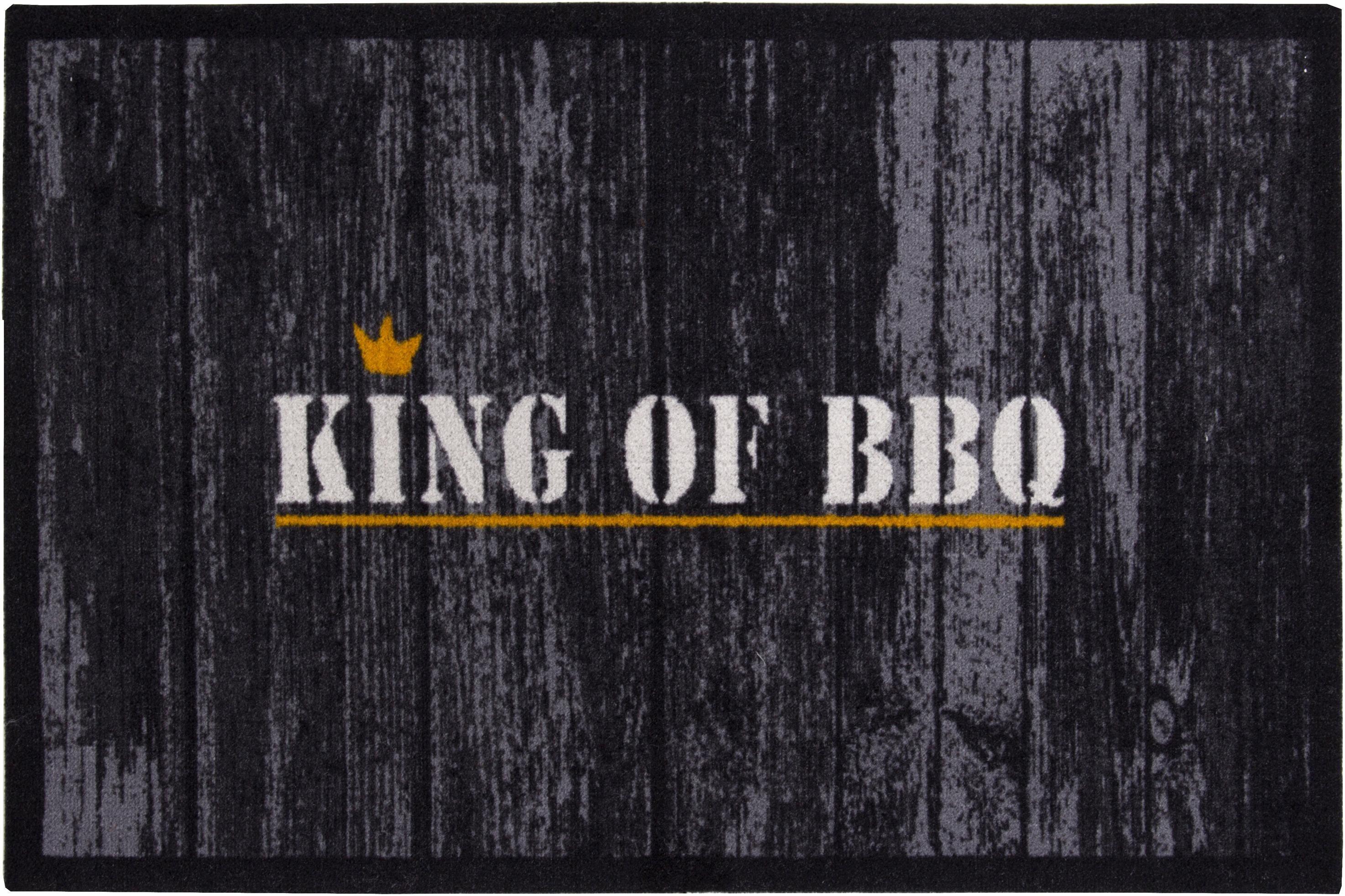 Fußmatte »King of BBQ«, Andiamo, rechteckig, Höhe 3 mm, In- und Outdoorgeeignet | Heimtextilien > Fussmatten | Andiamo