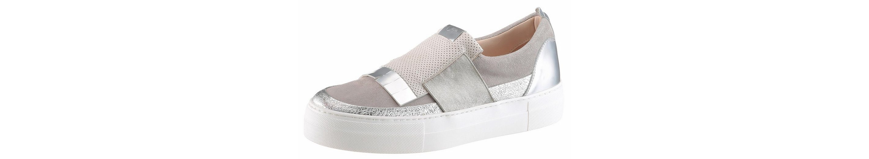 Donna Carolina Slipper, im Sneakerlook mit Metalliceinsatz