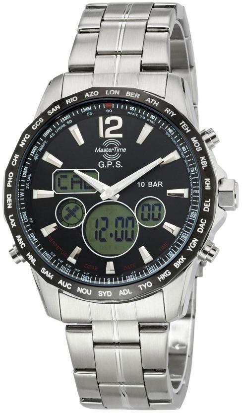MASTER TIME Funkchronograph »MTGS-10555-21M« mit Langzeitbatterie