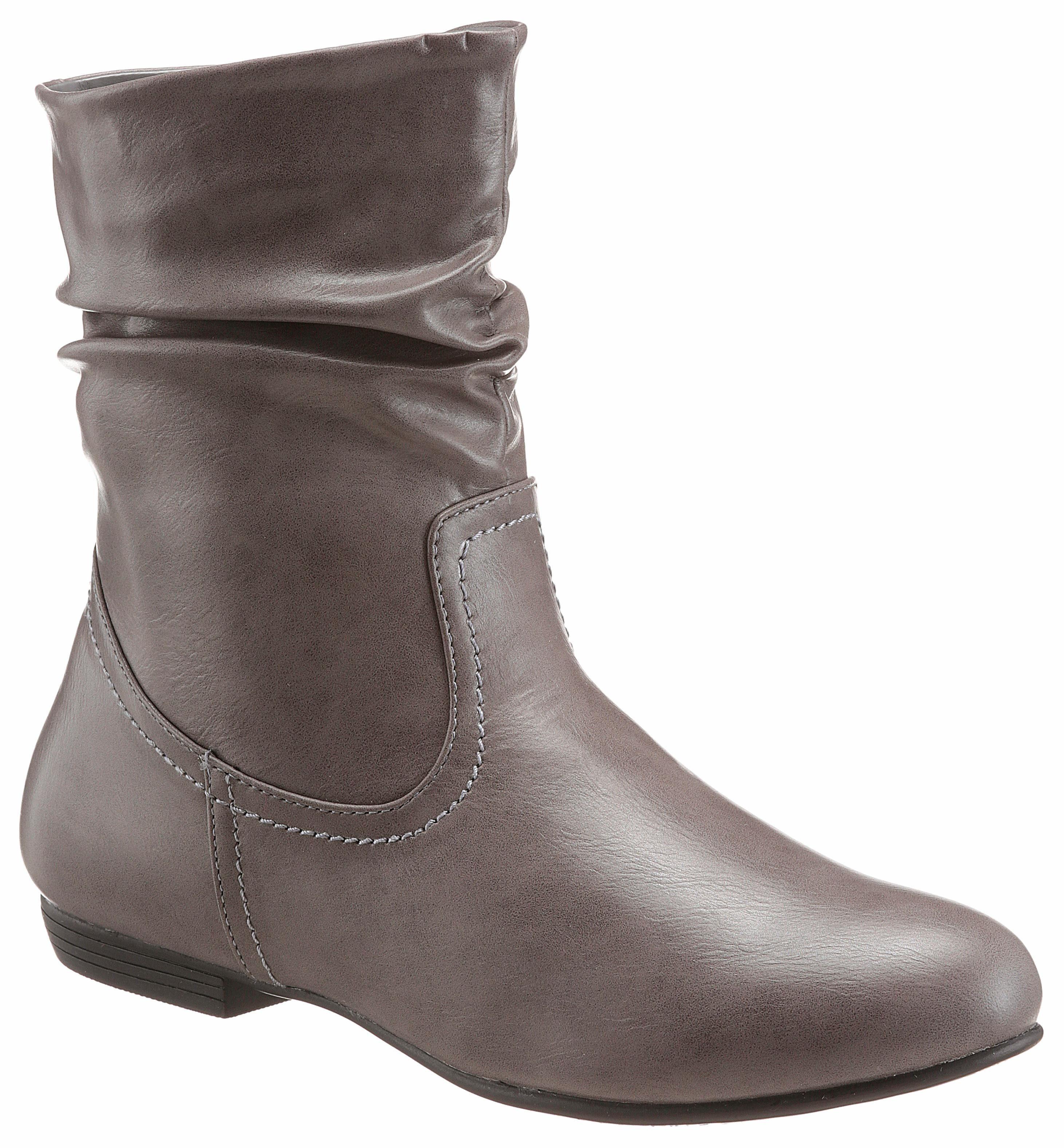 CITY WALK Stiefelette mit Raffungen am Schaft, Praktischer Reißverschluss an der Schuhinnenseite online kaufen | OTTO