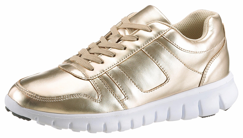 CITY WALK Sneaker, mit sportlicher Profilsohle  goldfarben