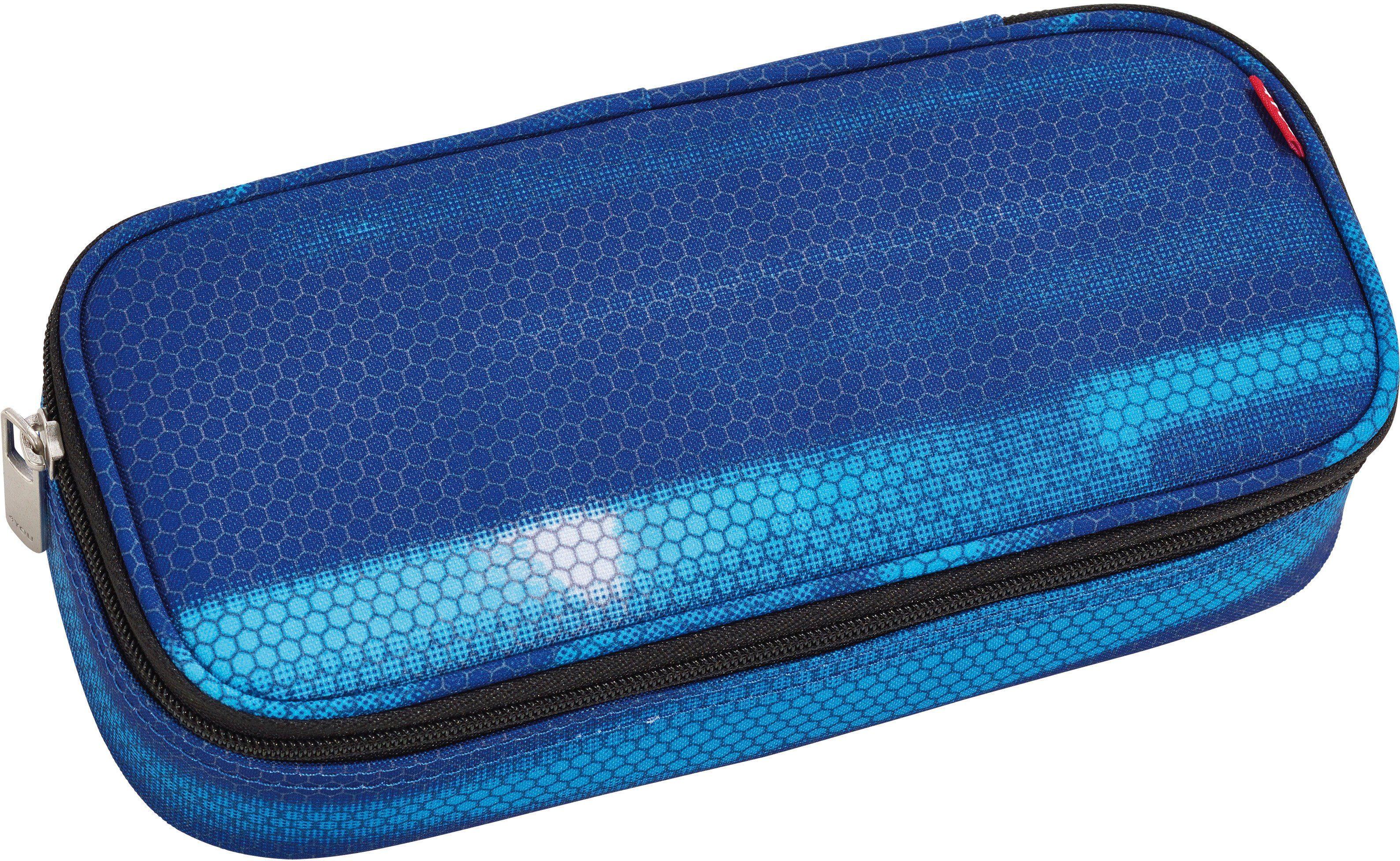 4YOU Mäppchen mit Geodreieck®, Shades Blue, »Pencil Case«