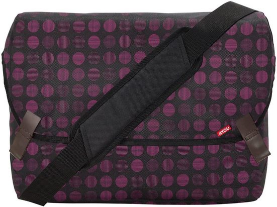 4YOU Umhängetasche »Messengerbag M, Minidots«, mit Laptopfach
