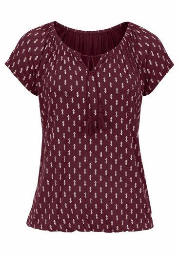 Vivance Shirts (2 Stück) Alloverdruck und Uni