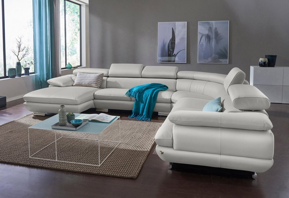 calia italia wohnlandschaft magic in 2 lederqualit ten online kaufen otto. Black Bedroom Furniture Sets. Home Design Ideas
