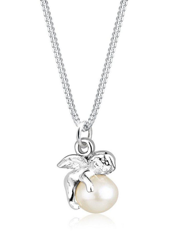 Elli Halskette »Engel Süßwasserzuchtperle 925 Sterling Silber« in Weiß