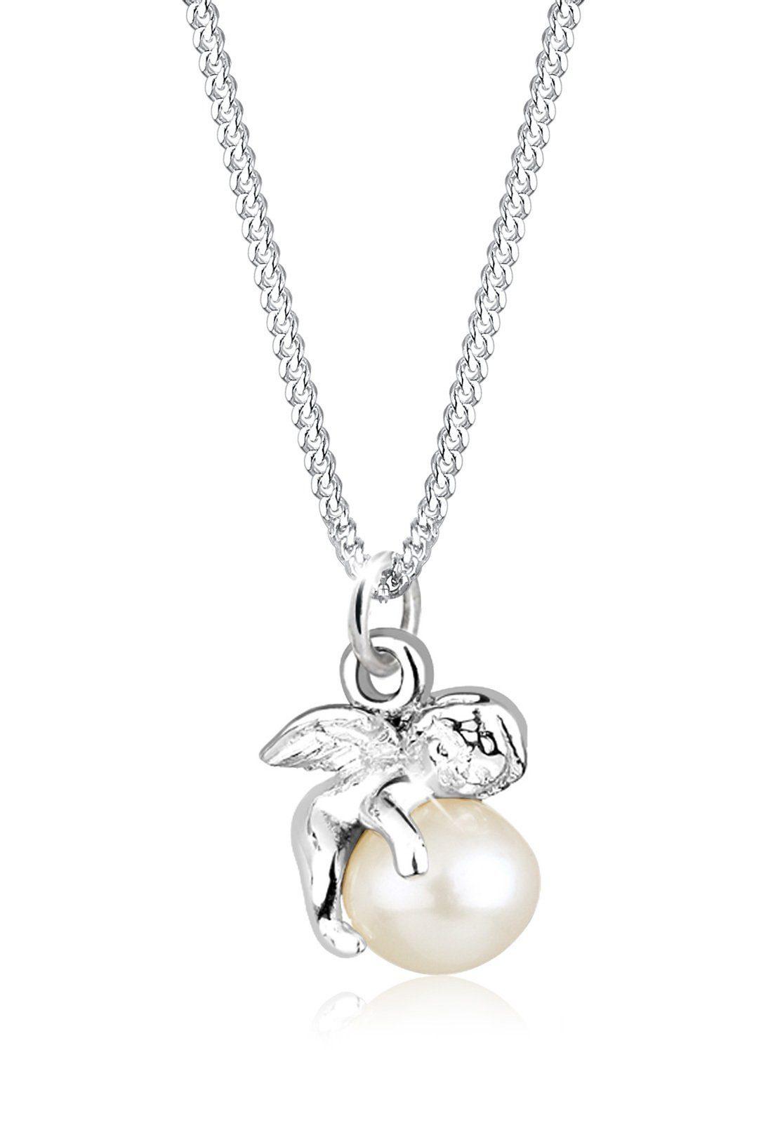 Elli Halskette »Engel Süßwasserzuchtperle 925 Sterling Silber«