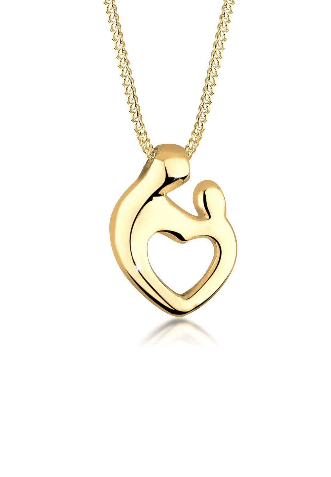 Goldhimmel Halskette »Mutter Kind Herz 925 Sterling Silber«