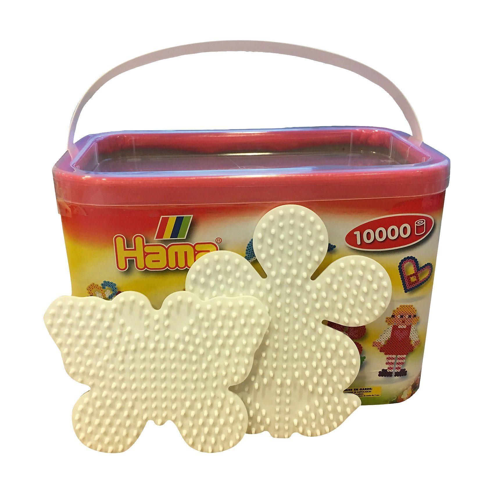 Hama Perlen Frühlingsset: Eimer mit 10.000 midi-Perlen in 22 Farben + 2