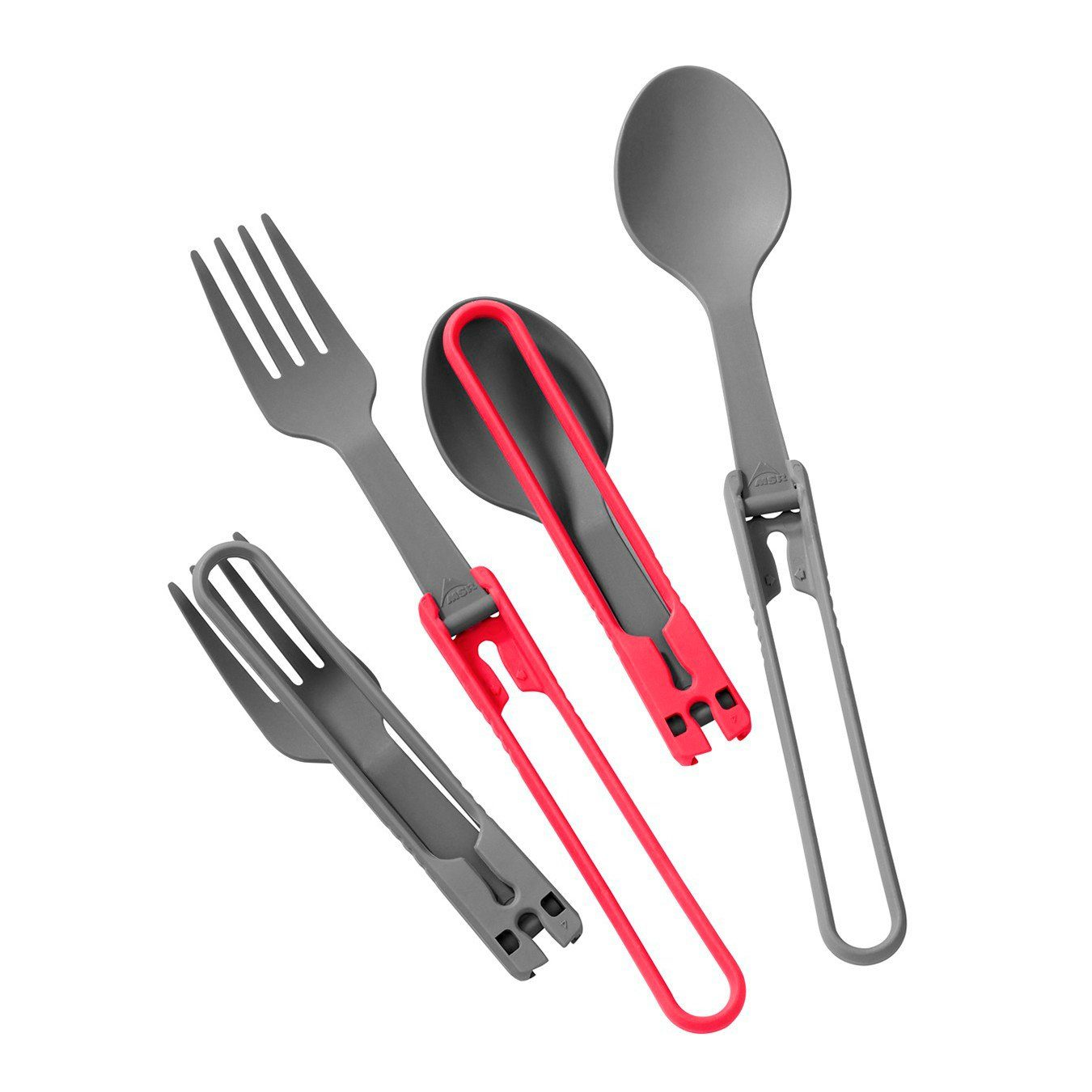 MSR Camping-Geschirr »Utensil Set SpoonsForks red/gray«