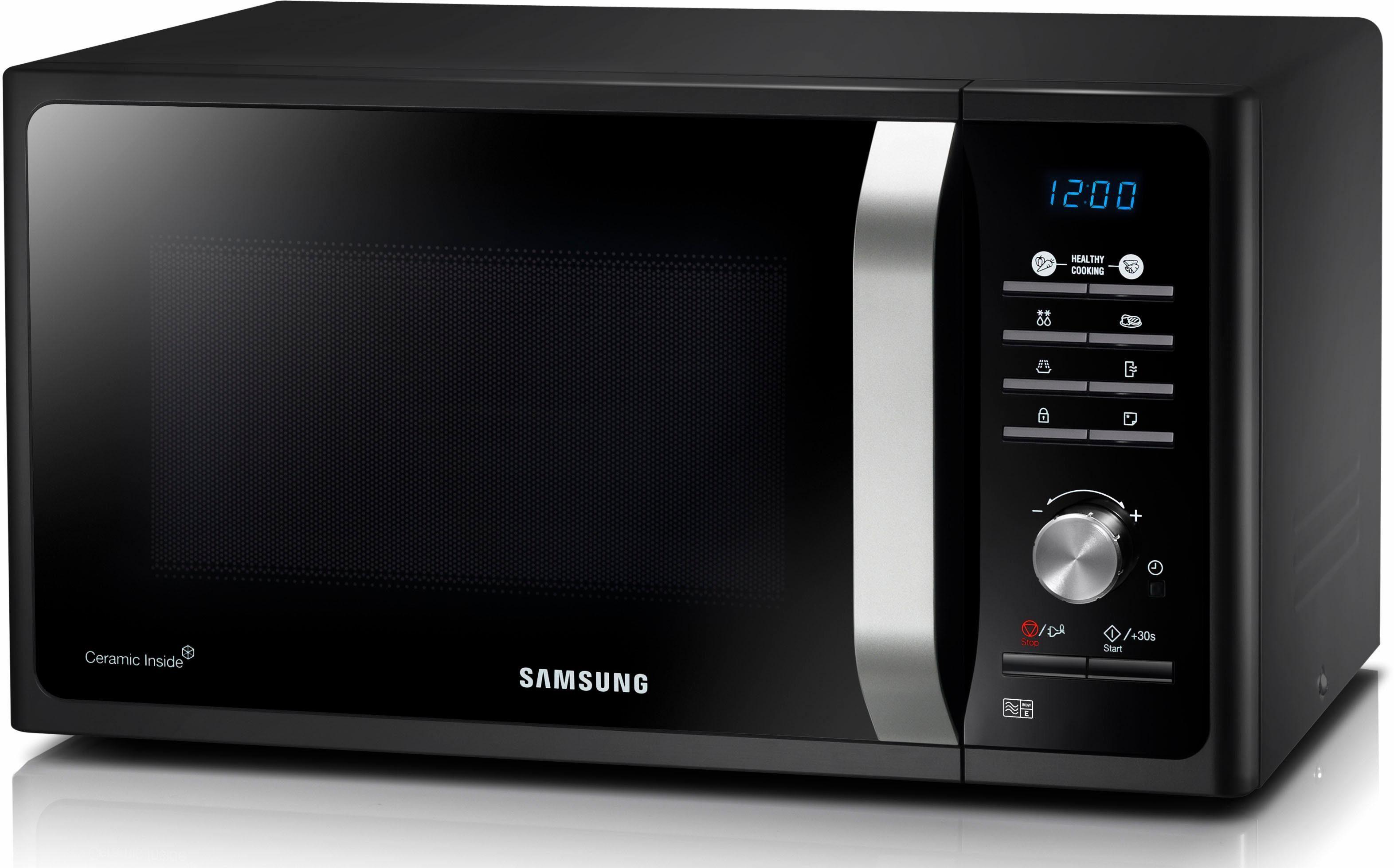 Samsung Mikrowelle MS23F301TAK/EG, 800 W, 23 Liter Garinnenraum aus kratzfester Keramik-Emaille