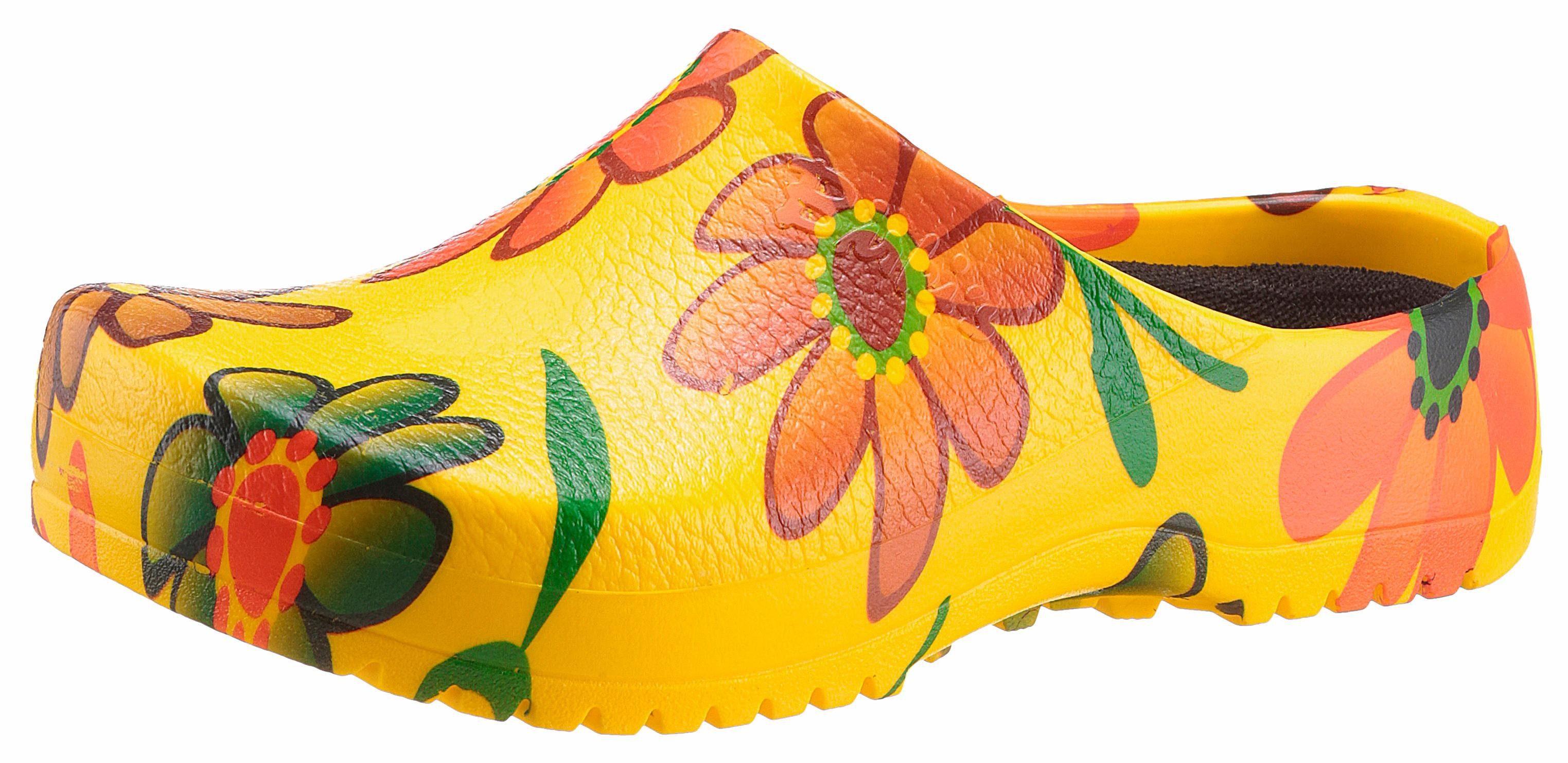 Birkenstock Super Birki Clog, herausnehmbare Innensohle bei 30 Grad waschbar online kaufen  gelb-geblümt
