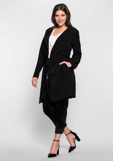 sheego Style Trenchcoat, Bequemer Bewegungschlitz hinten