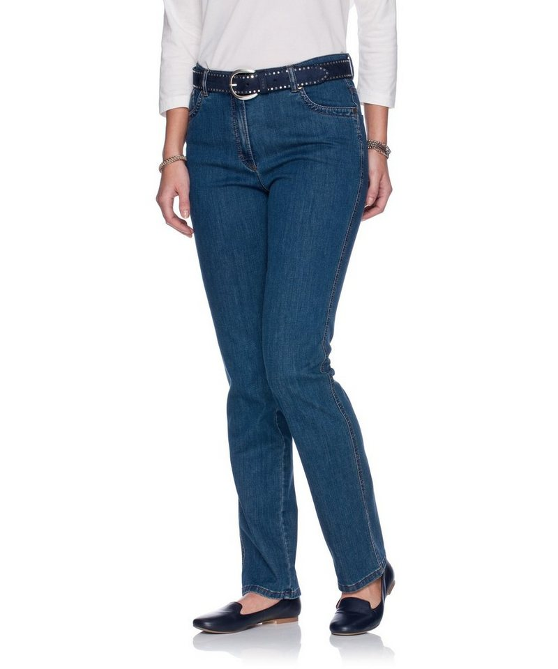 RAPHAELA by BRAX Damenhose Five-Pocket »INA CHIC« in STONED