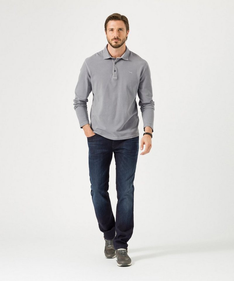 BRAX Herrenpoloshirt 1/1-Arm »SHANE« in FLINT
