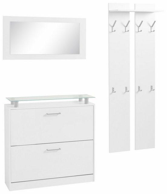 Garderoben Sets - borchardt Möbel Garderoben Set »Finn«, (Set, 3 tlg), mit Glasablage  - Onlineshop OTTO