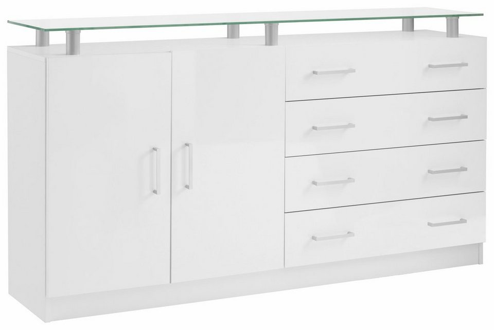 borchardt m bel sideboard finn breite 152 cm mit glasablage online kaufen otto. Black Bedroom Furniture Sets. Home Design Ideas